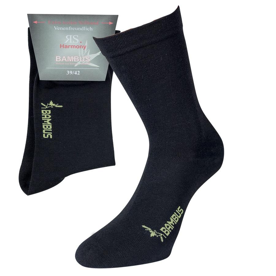 43041 UNISEX BAMBUSOVÉ ZDRAVOTNÍ PONOŽKY RS ČERNÁ - Pánské - Ponožky - Bez  gumiček 7a7378e355