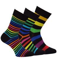 09d0053aaa3 34098 DÁMSKÉ PRUHOVANÉ PONOŽKY OXSOX Pruhované ponožky