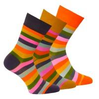 8abda45c9b4 34097 DÁMSKÉ PRUHOVANÉ PONOŽKY OXSOX Pruhované ponožky