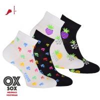 f81d61371de 34114 DÁMSKÉ BAREVNÉ KOTNÍKOVÉ PONOŽKY OXSOX Dámské ponožky